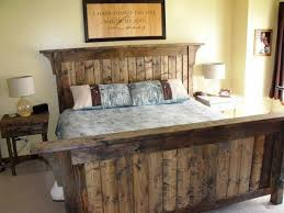Image of: Rustic Bed Frame Image