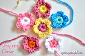 Free Crochet Patterns For Beginners New Crochet Easy Tiny Flower Free Crochet Pattern My Merry Messy Life