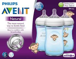 Avent Decorated Bottles Avent BPA Free 100 Pack 100 Ounce Decorated Natural Bottle Blue 19