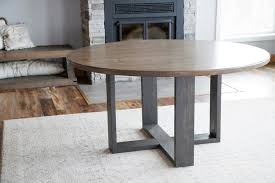 Use vertical wood pillars to bring the 2 wood rounds in tiered arrangements and that's it. 60 Round Dining Table Top Ana White