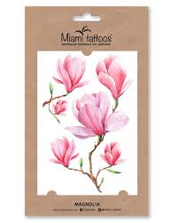 акварельные переводные тату Miami Tattoos Magnolia