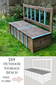 garden bench diy plans. this diy outdoor storage bench is the solution to your backyard clutter problem! get garden diy plans