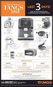 Brands Of Kitchen Appliances 21 Feb Tangs Kitchen Appliances Offers A Tangs Last 3 Days Sale