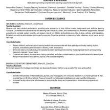 Cover Letter College Teaching Assistant Resume Ukran Soochi Co
