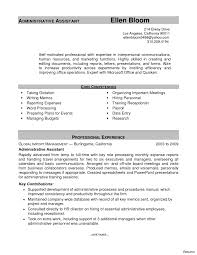 Sample Resume For Administrative Assistant Skills Administrative Assistant Job Description For Resume Resumes Office 18