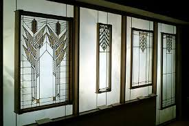 panels from the susan lawrence dana house and the j j walser jr house