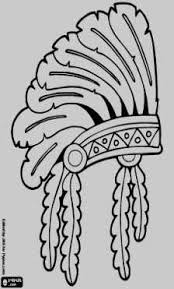 Thanksgiving Indian Coloring Pages Native North American Indians