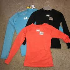 Details About Under Armour Ua Evo Coldgear Girls Long Sleeve Fitted Crew Top 1221788 Chose 40