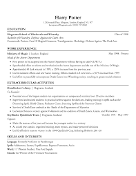 FanworksI built Harry's Resume ...