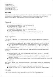 Business Development Associate Resume Template Best Design Tips Unique Business Skills For Resume