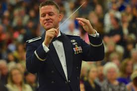 Captain Dustin Doyle conducts the United States Air Force Band