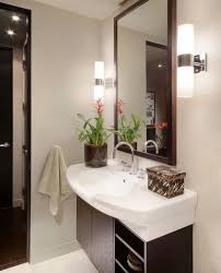 View In Gallery Sleek And Lovely Sconce Lights Next To The Mirror