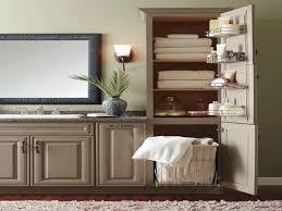 Freestanding Linen Cabinet Vanity Linen Cabinet With Hamper Globorank