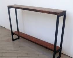 skinny entryway table. Reclaimed Wood Console Table - Lentini Design Slim Handmade Entryway With Shelf Skinny