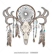 Dream Catcher Satanic Skull Bison Buffalo Skull Print Stock Vector 100 Shutterstock 14