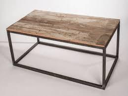 furniture wood and metal coffee table elegant frame top industrial tabl