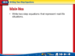 41 write two step equations