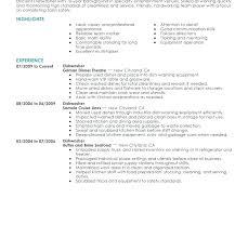 Dishwasher Resume Examples Sample Dishwasher Resume Dishwasher Resume Sample Create My Resume
