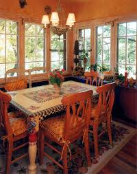 DeFINE Design Congress Park breakfast nook. Custom table by Penny Higgins.  French Country Fun! | Country style kitchen, Breakfast nook, Kitchen design