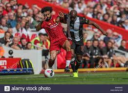 14th September 2019 , Anfield, Liverpool, England; Premier League Football,  Liverpool vs Newcastle United ; Mohamed Salah (11)