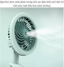 ĐÁNH BAY MÙA HÈ ] Quạt Hơi Nước Mini Phun Sương Sạc Điện Có Kẹp Để Bàn Tiện  Lợi máy lạnh điều hòa mini di động Sale chào hé giảm 50%
