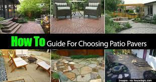 brick patio pavers with lots of paver designs