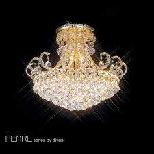 crystal semi flush ceiling lights
