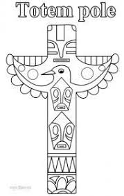 Best Of Native American Totem Pole Coloring Pages Nichome