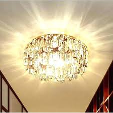 semi flush mount crystal chandelier cl 3 light french gold