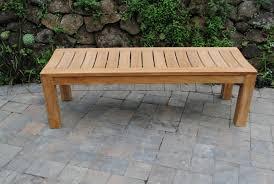 5 backless garden bench