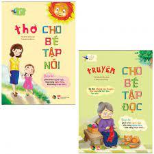 Sách - Combo Thơ cho bé tập nói - truyện cho bé tập đọc (2 quyển)