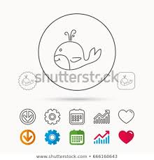 Whale Icon Largest Mammal Animal Sign Royalty Free Stock Image