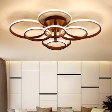<b>4/6/8/10</b>/<b>rings Brown White Modern</b> led ceiling lights plafonnier led ...