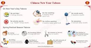 chinese new year taboos things not to do on new year s day chinese new year taboos