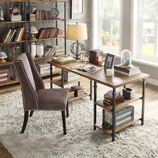 industrial desk writing table rustic reclaimed wood metal home office furniture awesome custom reclaimed wood office desk