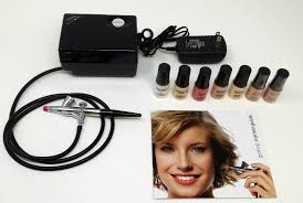 luminess air basic airbrush system with cosmetic starter kit shade fair open box walmart