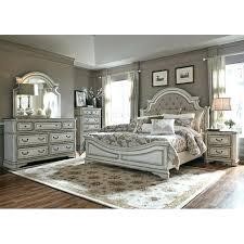 grey king bedroom set antique white traditional 6 piece king bedroom set magnolia manor rustic grey