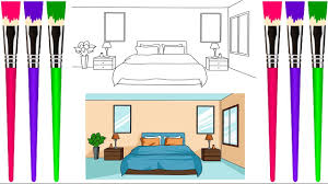 How to draw a princess bedroom for kids princess bedroom drawing and coloring pages for kids. Coloring Page For Kids How To Draw Bedroom And Coloring Pages For Kids Kids Drawing Step By Step Youtube