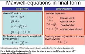 continuity equation physics. question: maxwell-equations in final form continuity equation (useful solid state device physics): con. physics i
