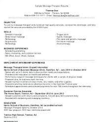 Massage Therapist Resume Amazing Licensed Massage Therapist Resume Examples Fruityidea Resume