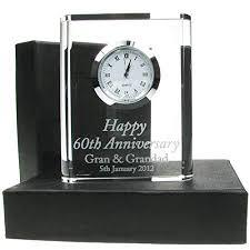 60th wedding anniversary gift end 60th wedding anniversary crystal clock 60th wedding anniversary gifts