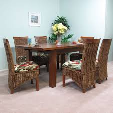 mahogany extension table with banana leaf