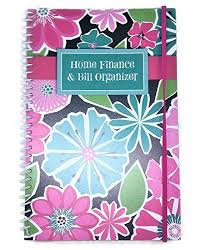 Home Finance Bill Organizer 2015 Home Finance Bill Organizer With Pockets Bright Flowers