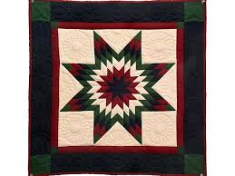 Lone Star Quilt -- magnificent made with care Amish Quilts from ... & Miniature Indiana Amish Clay Lone Star Wall Hanging Photo 1 ... Adamdwight.com