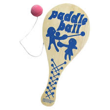 Wooden Paddle Ball Game Wooden Paddle Ball 100 inch Handheld Game at wwwofficeplayground 2