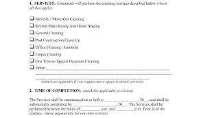 cleaning services contract templates cleaning service contract sample download by tablet desktop original