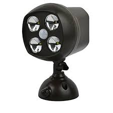 outdoor wireless security lights battery powered. waterproof 4 led wireless motion sensor light spotlight battery powered security lights powerful indoor \u0026 outdoor wall sconce night for driveways, e