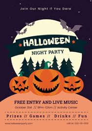 How To Create A Party Flyer Free Halloween Poster Flyer Designs Designcap Poster Flyer Maker