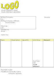 Standard Invoice Template Invoice Templates