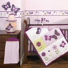 enchanting erfly baby bedding sets for baby nursery decoration stunning purple walls with decorative erfly